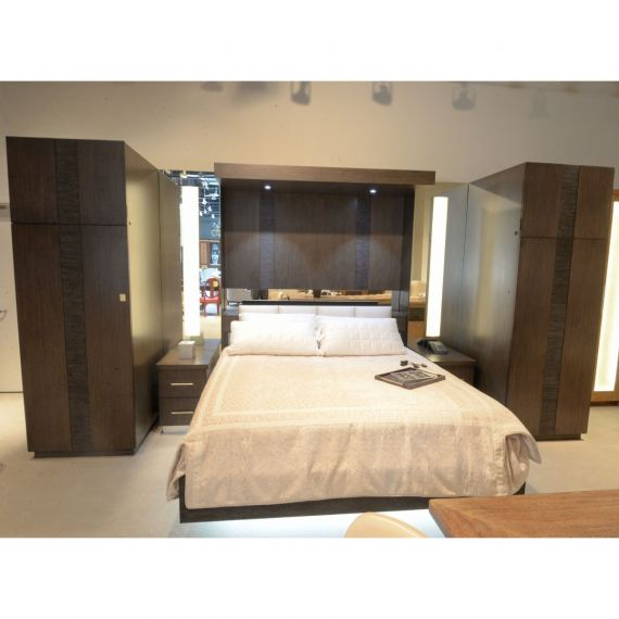 Samuelson Lighted Modern Bedroom Suite Display