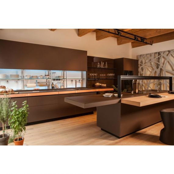 Valcucine Chocolate Modern Display Kitchen