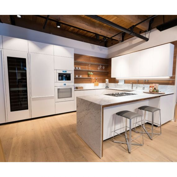 Valcucine Matte White & Walnut Display Kitchen