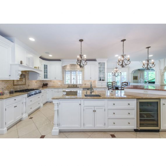 Palatial White Traditional Pre-Owned Kitchen