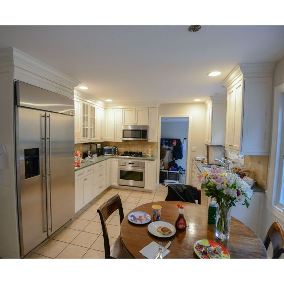 Ivory Cream Traditional Pre-Owned Kitchen
