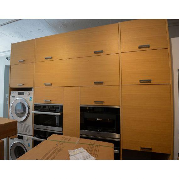 Natural Veneered Cleaning & Cooking Showroom Display