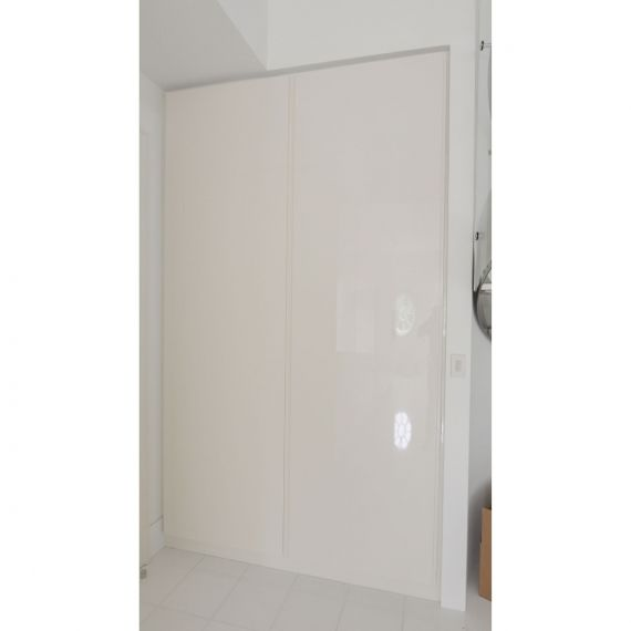 Lacquered Off White Bath Tall Cabinet