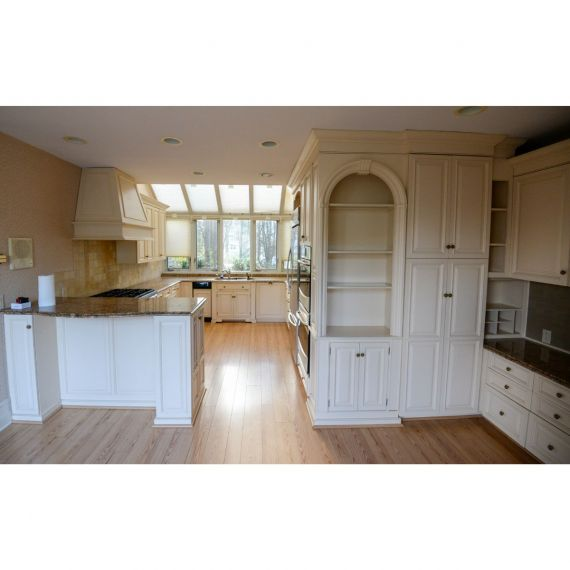 Heritage Cream Puff Traditional Pre-Owned Kitchen
