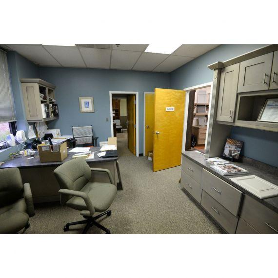 KraftMaid Taupe Showroom Display Office Area