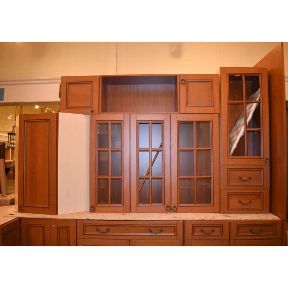 UltraCraft Stained Wood Traditional Showroom Display Kitchen