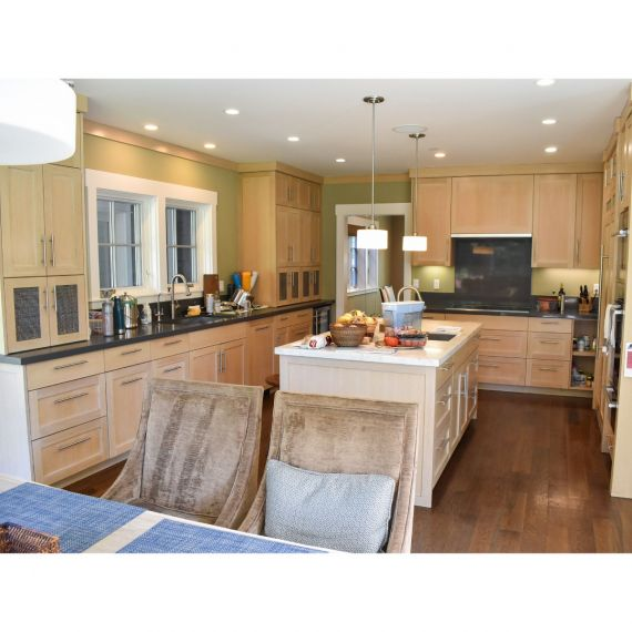 Custom Rift Cut Transitional Pre-Owned Kitchen