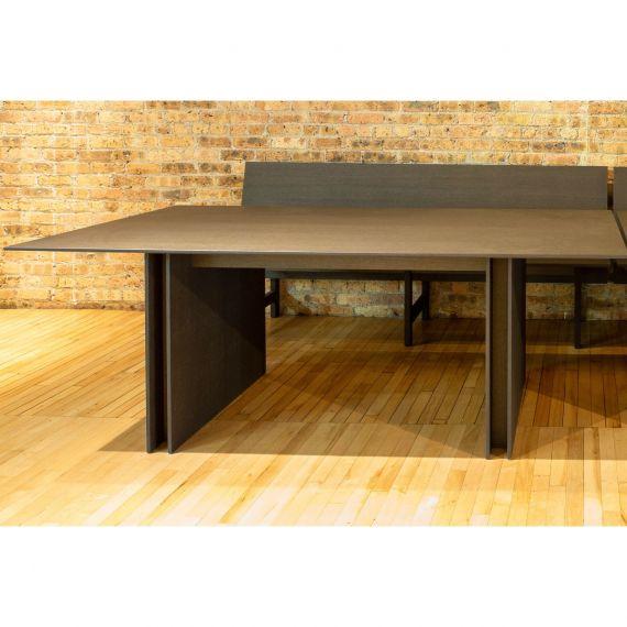 Bulthaup Mocha Modern Showroom Display Table & Bench