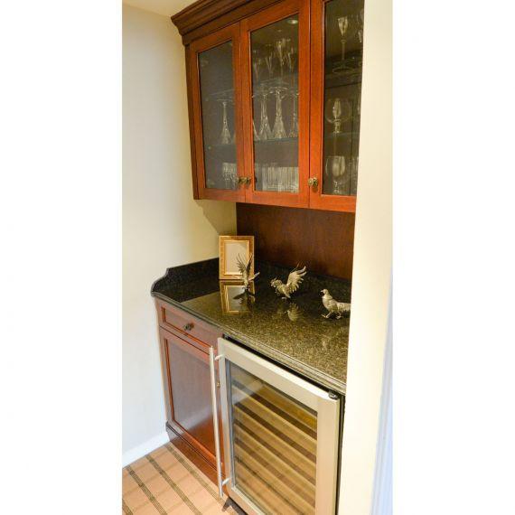 Mahogany Bar w/ Wine Cooler
