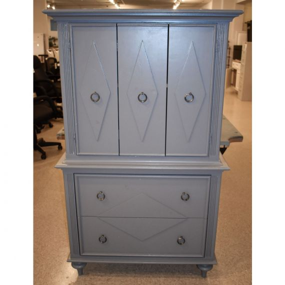 "60"" Grey Painted Hutch"