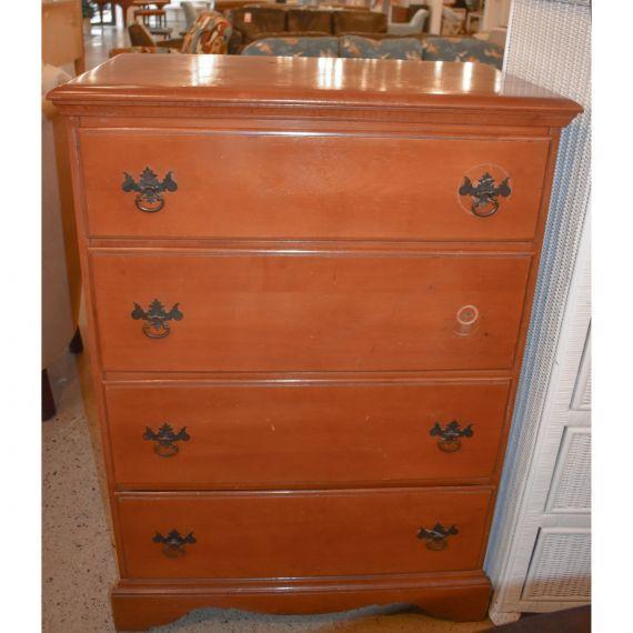 Four Drawer Wooden Dresser