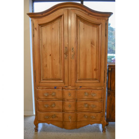 Carved Wood Armoire