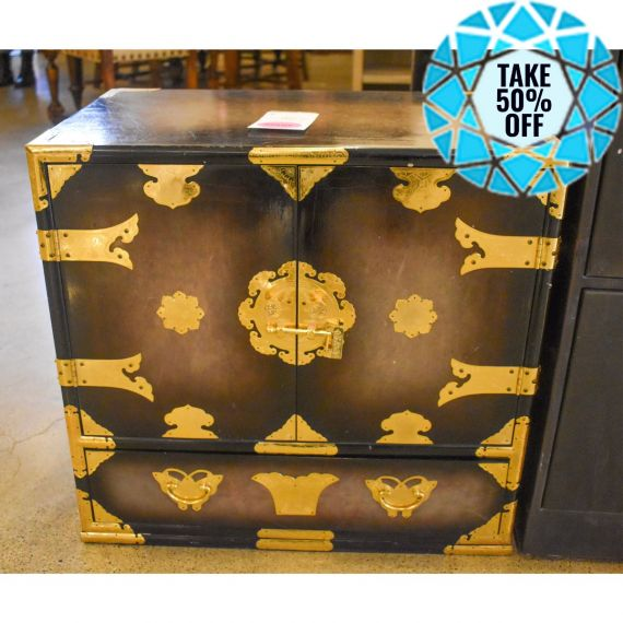 Small Cabinet w/ Gold Accents