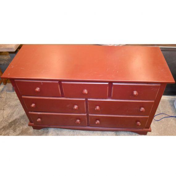 Red 7 Drawer Dresser