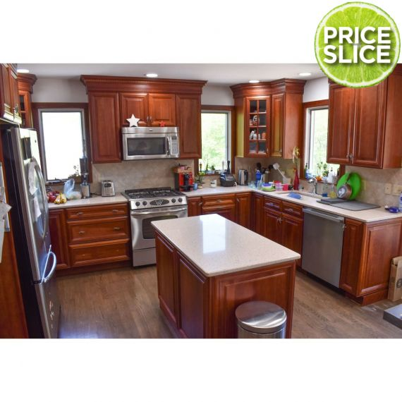 Wellborn Arbor Cherry Traditional Pre-Owned Kitchen