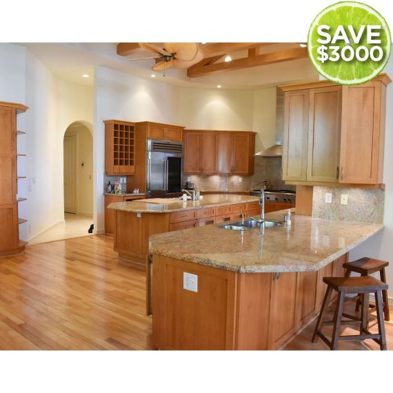 Camel Traditional Pre-Owned Kitchen & Desk Area