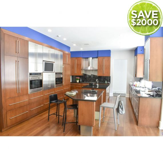 Wood-Mode Polished Modern Pre-Owned Kitchen