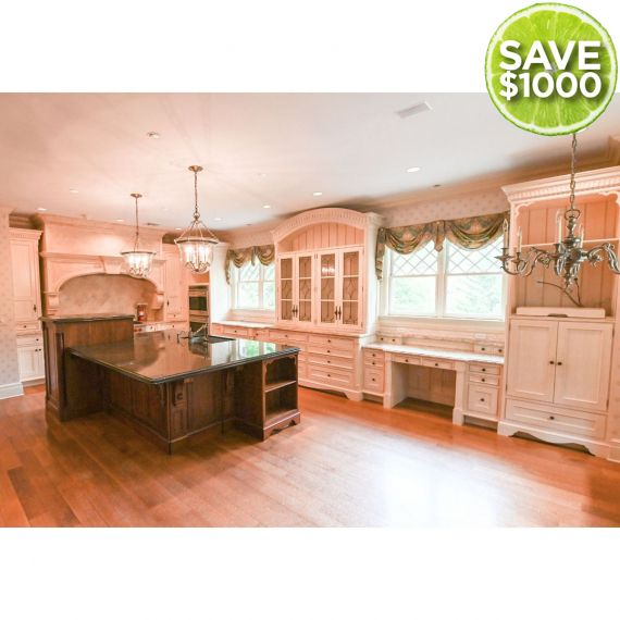 Custom Two Tone Jewett White Traditional Pre-Owned Kitchen
