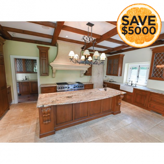 Wood-Mode Briar & Stone Traditional Pre-Owned Kitchen