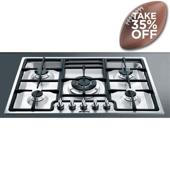 """Smeg 28"""" Stainless Gas Cooktop"""