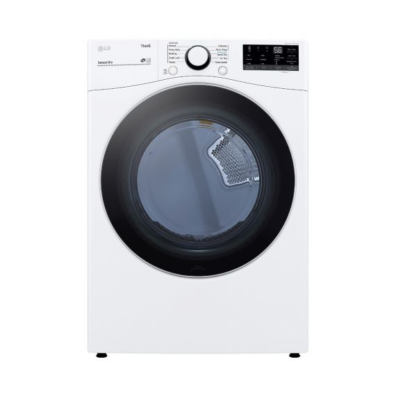 """LG 27"""" White Front Load Gas Dryer"""