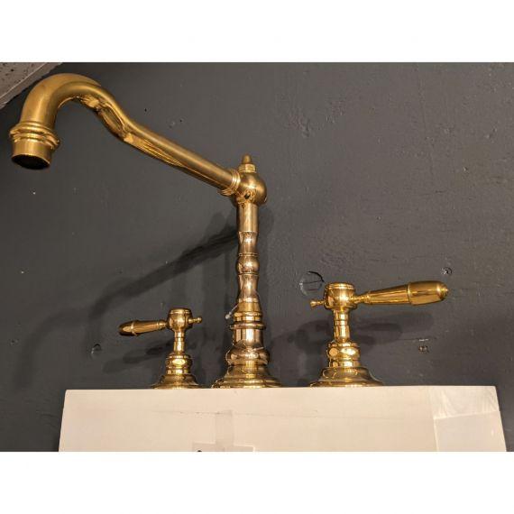Waterworks Julia Unlacquered Brass High Profile Kitchen Faucet