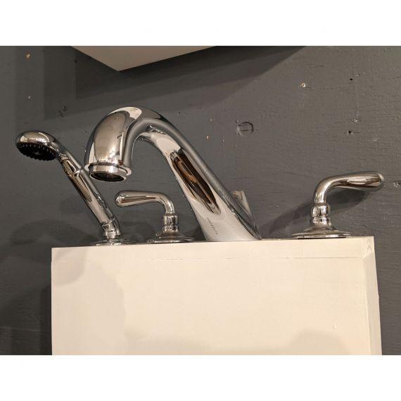 Waterworks Opus Chrome Low Profile Tub Filler w/ Handshower