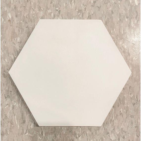 "Waterworks Promenade 8 X 8"" Hexagon Light Cool Gray Field Tile (10 Per Box)"