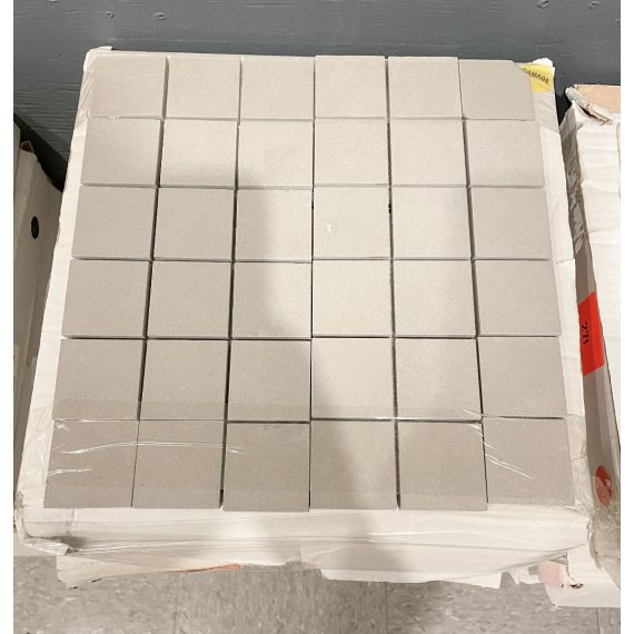 "Waterworks Ace 12 X 12"" Stacked Mosaic Flannel Matte Solid Tile (5 Per Box)"