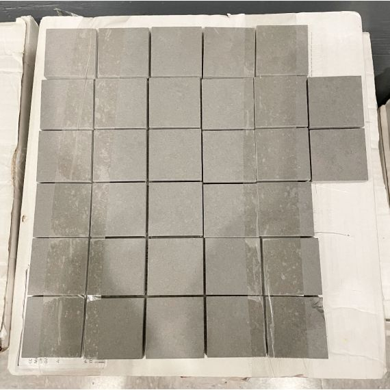 "Waterworks Ace 12 X 12"" Stacked Mosaic Lava Matte Solid Tile (5 Per Box)"