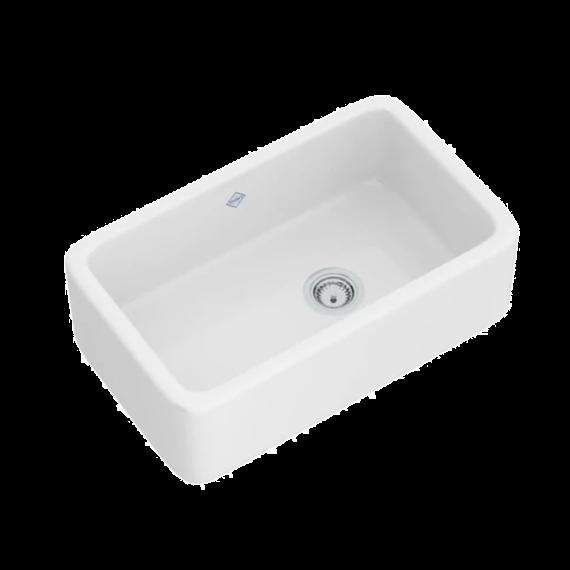 "Shaw's Original 30"" White Fireclay Farm Sink"
