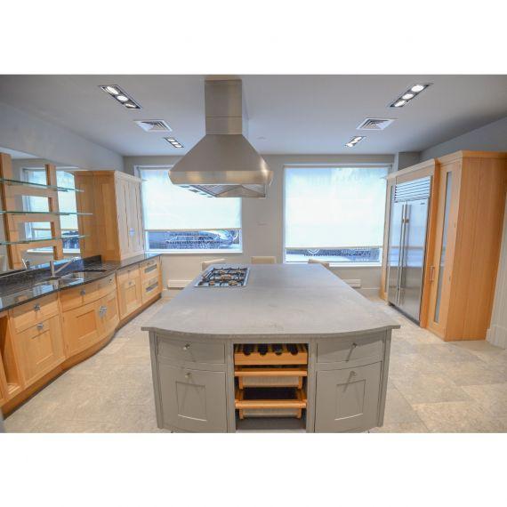 Smallbone Oak & Grey Transitional Showroom Display Kitchen