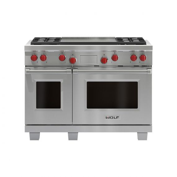 """Wolf - 48"""" Dual Fuel Range - 4 Burners and Infrared Dual Griddle"""