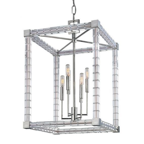 Hudson Valley Alpine 6 Light Polished Nickel Pendant