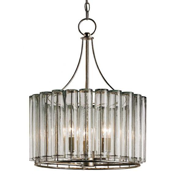 Currey & Company Bevilacqua 3 Light Silver Chandelier
