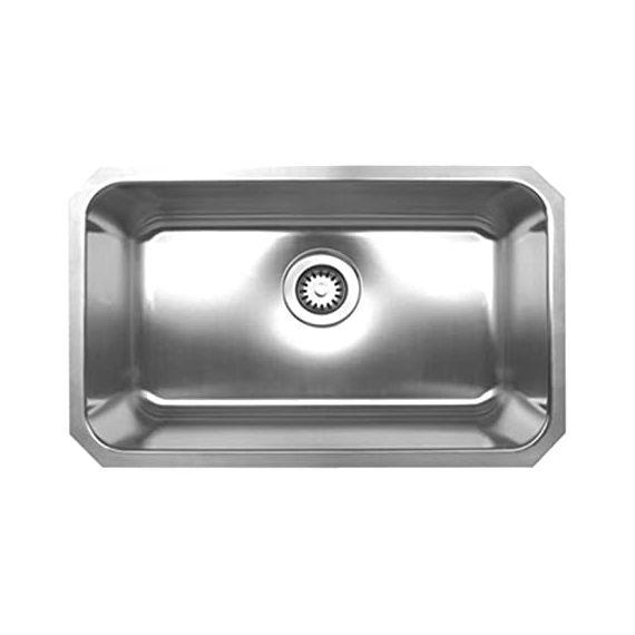 Whitehaus Stainless Steel Single Under Mount Sink