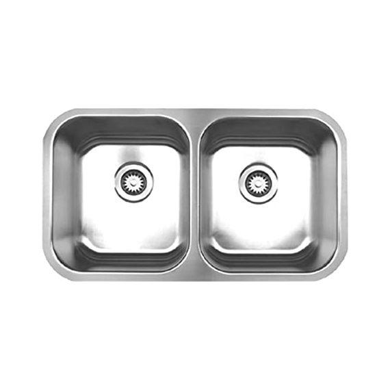 Whitehaus Stainless Steel Double Under Mount Sink