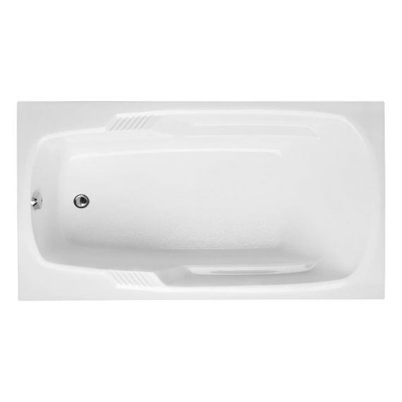Hydro Systems Isabella Drop-In White Tub with Gold Universal Grab Bar