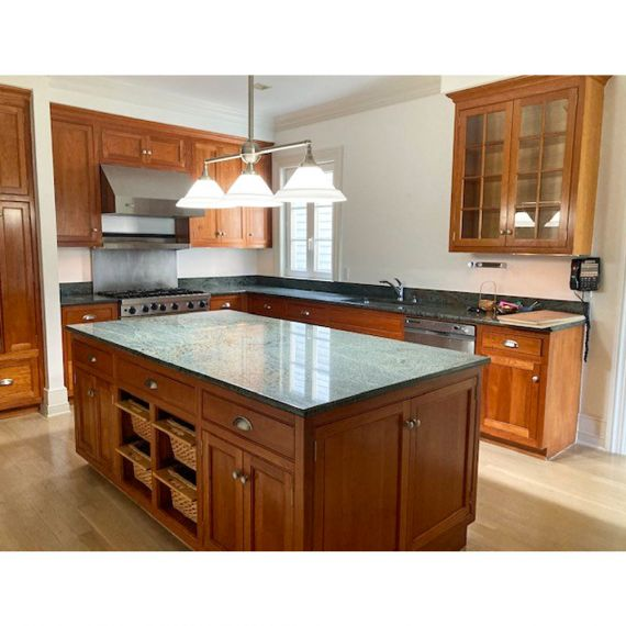 Cherry Stained Traditional Pre-Owned Kitchen