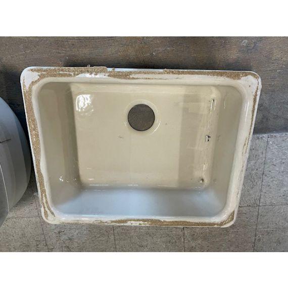 "Kohler 24"" Cream Cast Iron Single Under-Mount Sink"