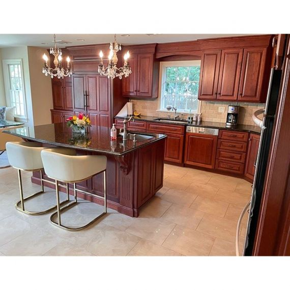 Custom Woodland Cherry Traditional Pre-Owned Kitchen