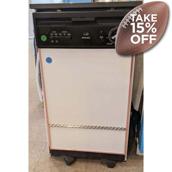 """Frigidaire 18"""" White & Black Portable Dishwasher"""