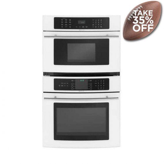 "JennAir 30"" White & Glass Oven/Microwave Combo"