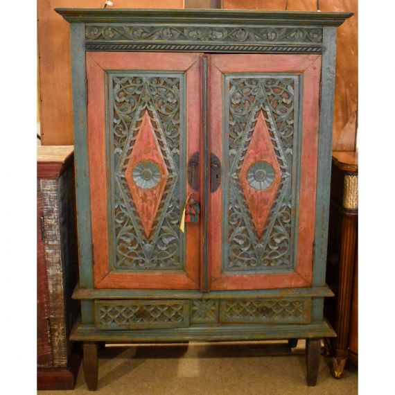 Indonesian Mahogany Armoire