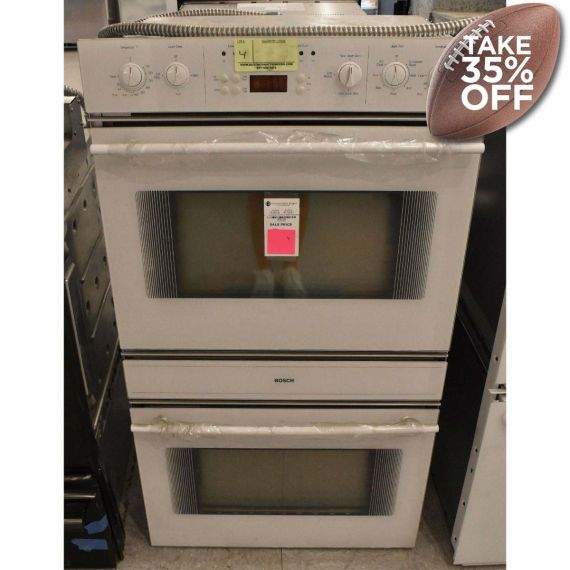 """Bosch 27"""" White Double Oven w/ Convection"""