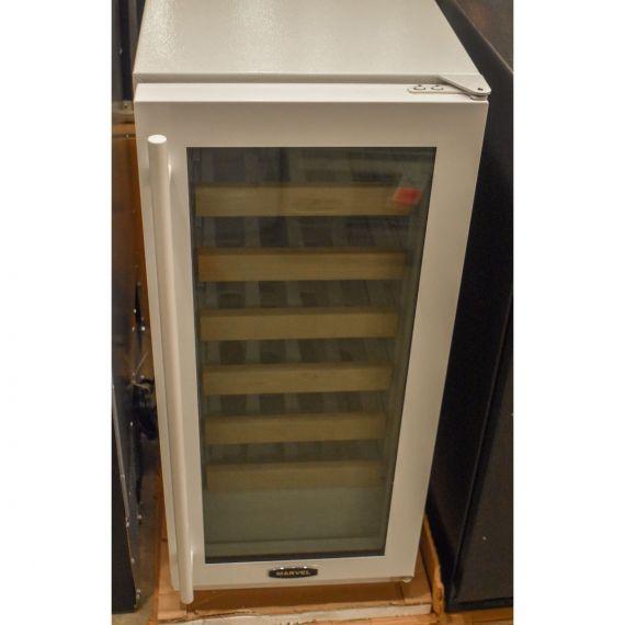 """Marvel 15"""" White & Glass Wine Cooler"""