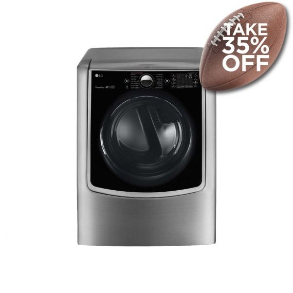 """LG 29"""" Graphite Steel Front-Load Electric Dryer 2020"""