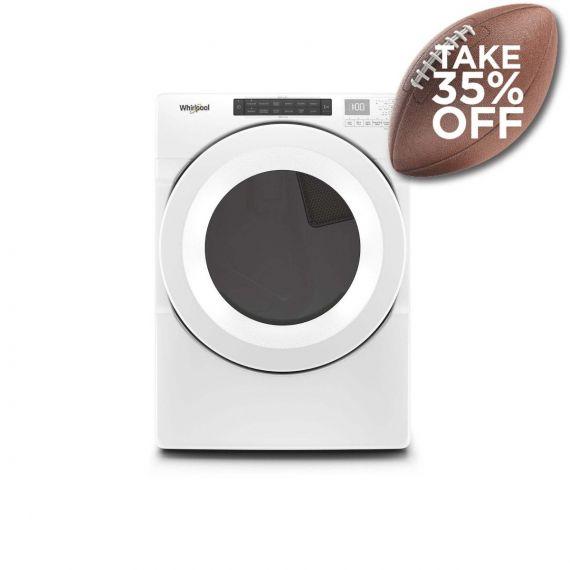 "Whirlpool 27"" White Long Vent Electric Dryer w/ Advanced Moisture Sensing 2020"