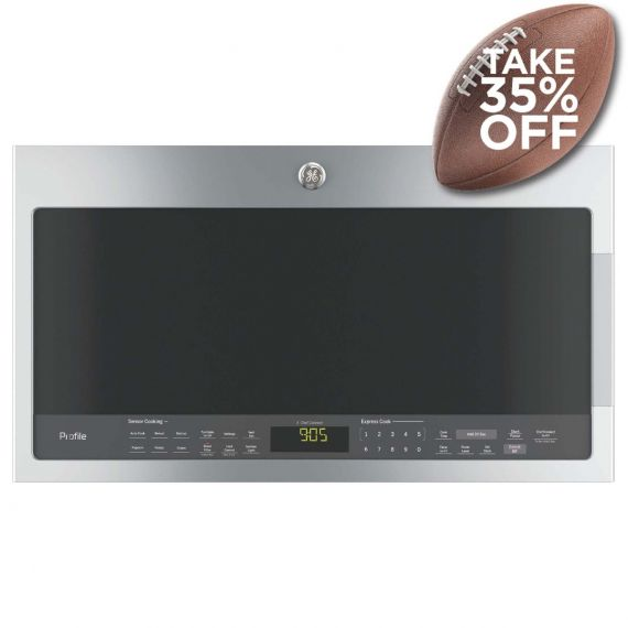 """GE Profile 30"""" Stainless Over-The-Range Microwave Oven"""