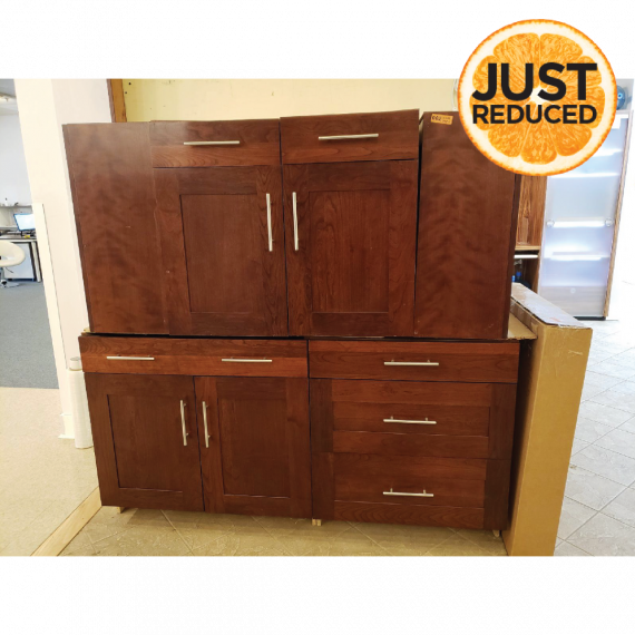 Dark Stained Contemporary Showroom Display Island